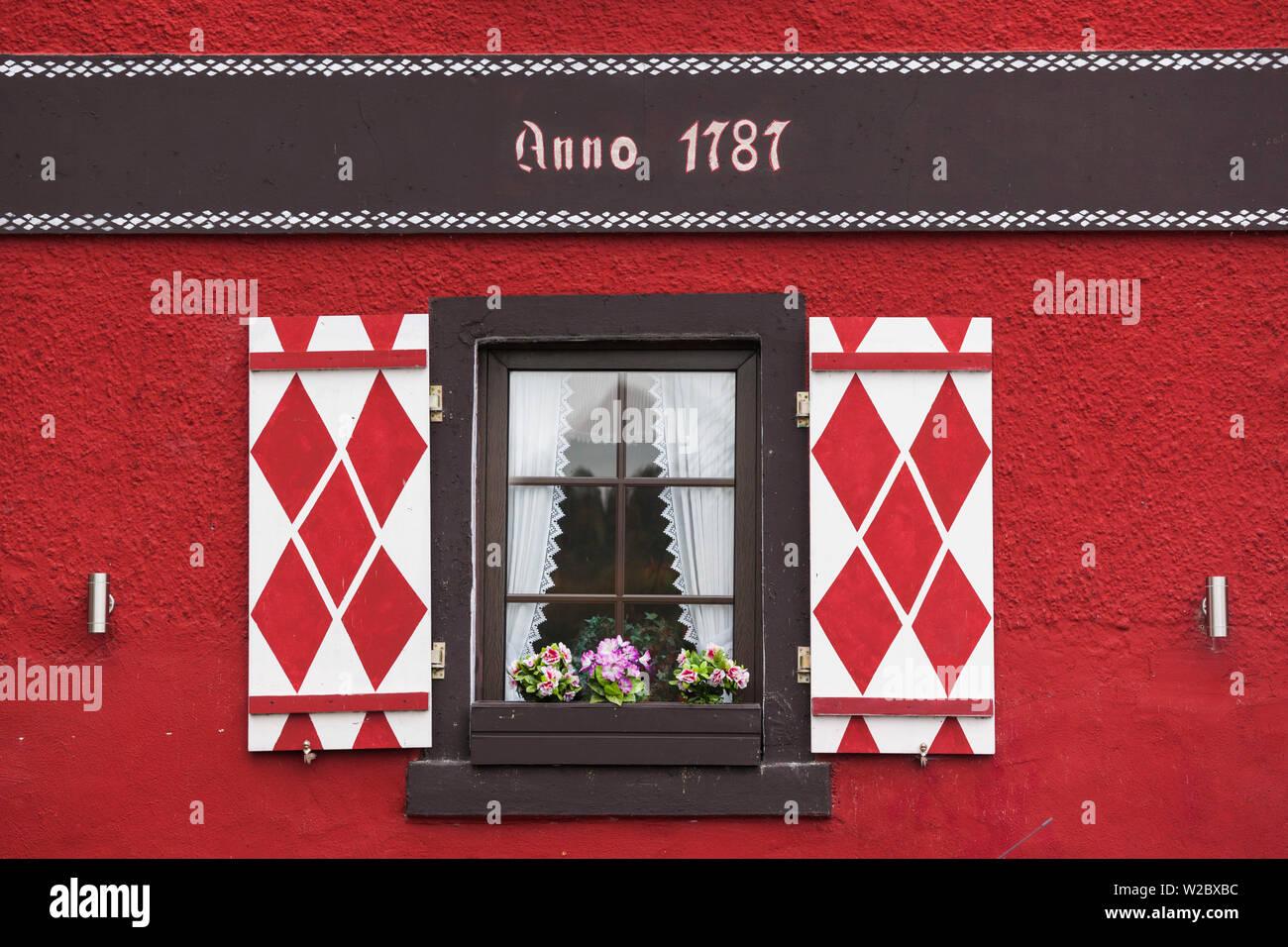 Germany, Rheinland-Pfalz, Boppard, building detail Stock Photo