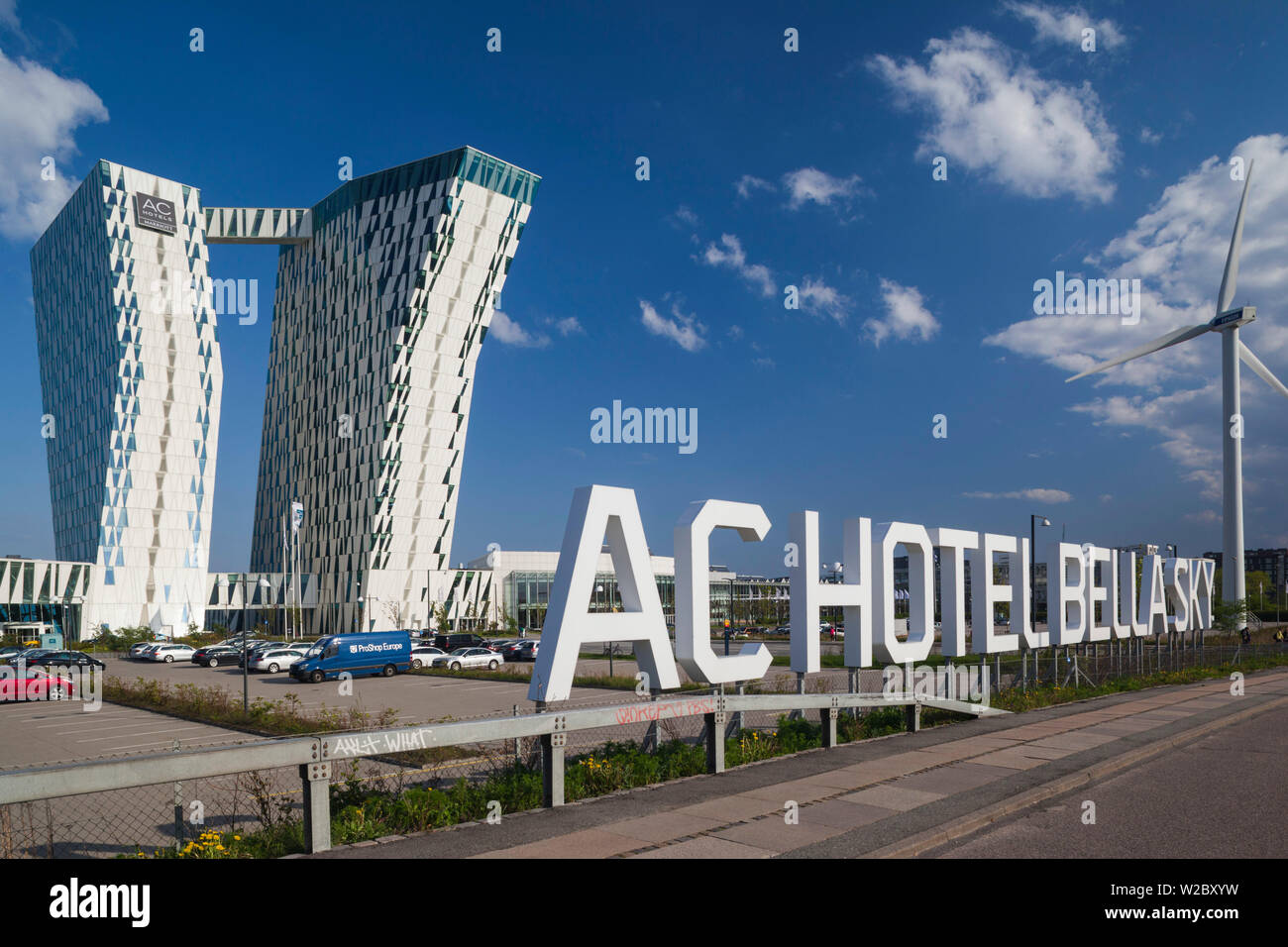 Denmark, Zealand, Copenhagen, Bella Sky Hotel Towers Stock Photo