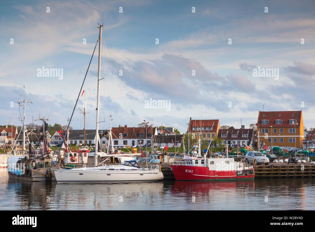Denmark, Zealand, Gilleleje, fishing fleet - Stock Image