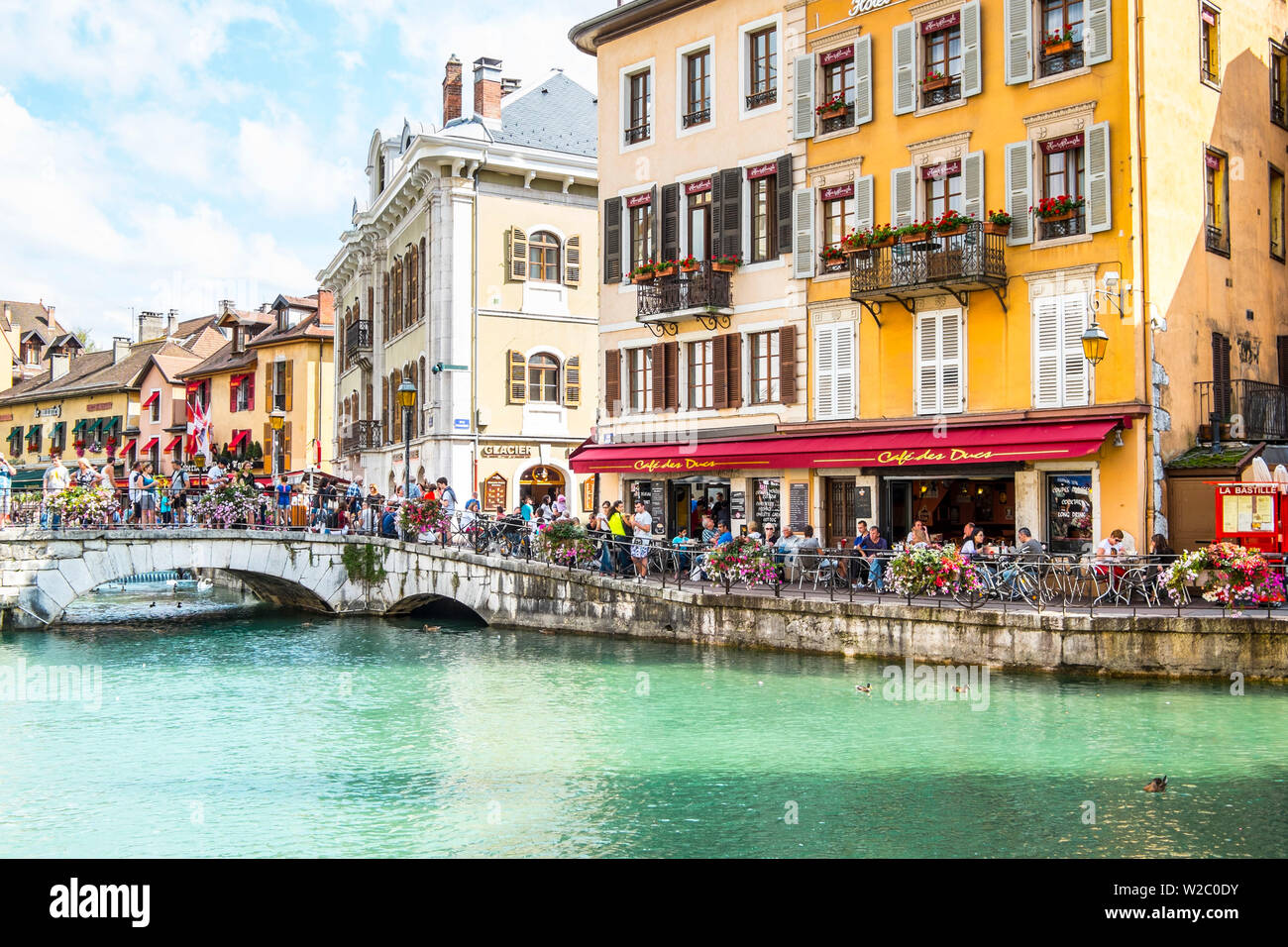 Annecy, Lake Annecy, Haute-Savoie, Rhone-Alpes, France - Stock Image