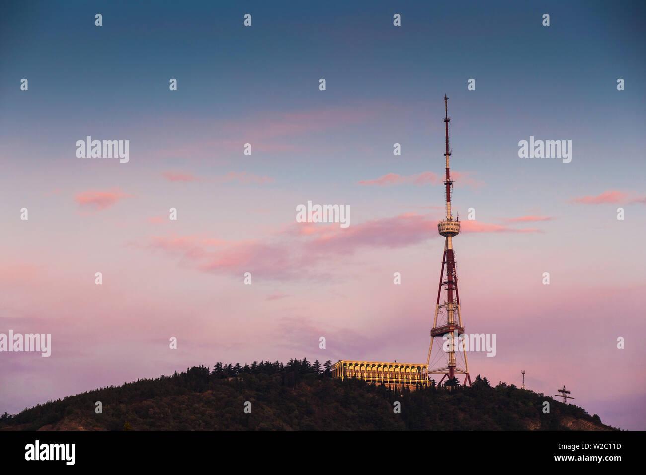 Georgia, Tbilisi, TV Tower Stock Photo