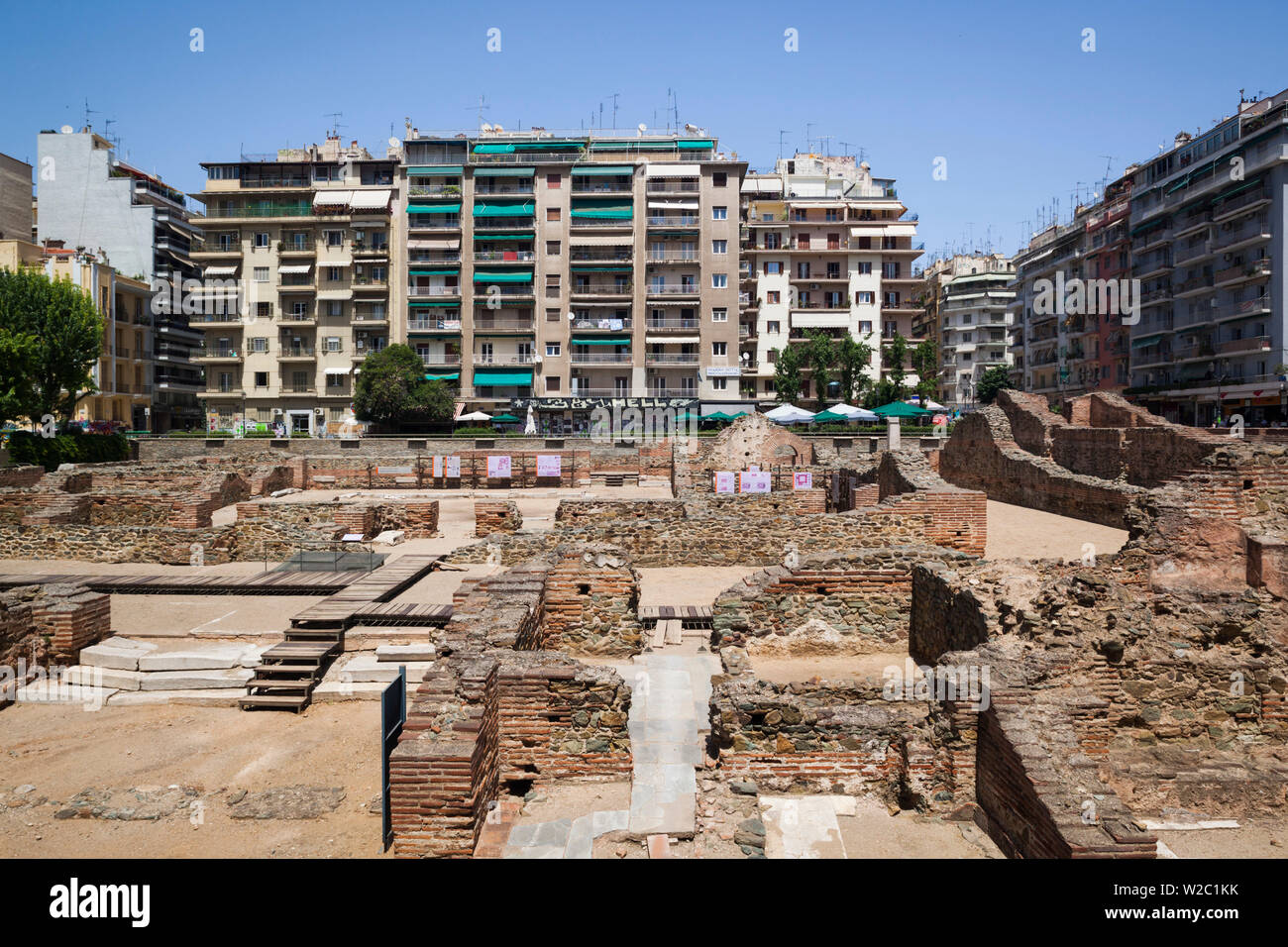 Greece, Central Macedonia Region, Thessaloniki, ruins of the Palace of Galerius - Stock Image