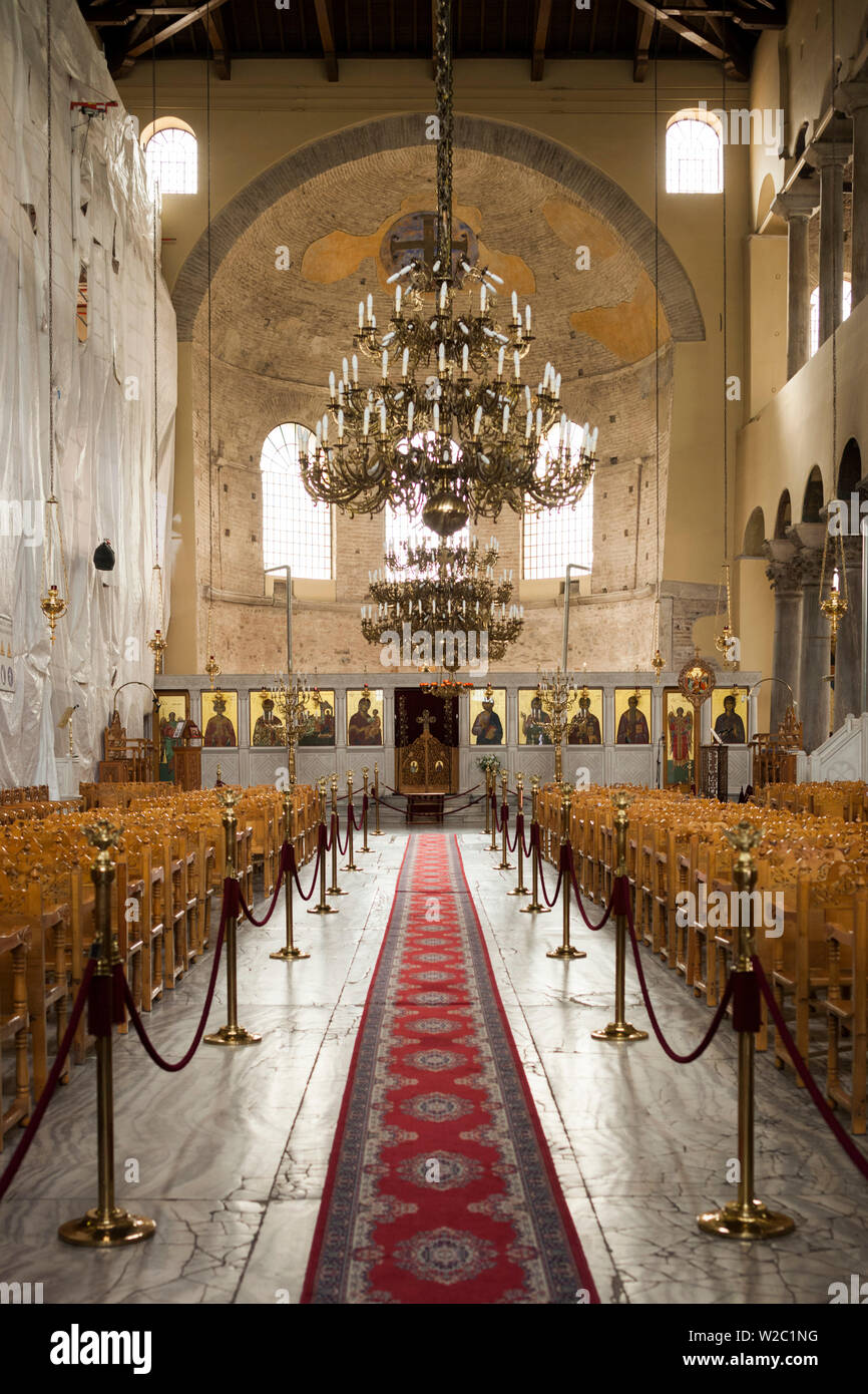 Greece, Central Macedonia Region, Thessaloniki, Church of Panagia Ahiropiitos - Stock Image