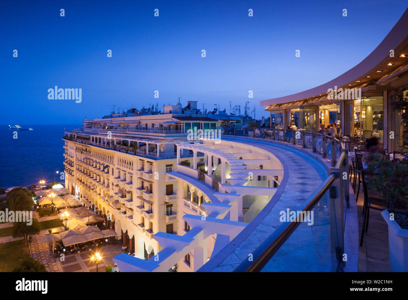 Greece, Central Macedonia Region, Thessaloniki, Aristotelous Square, buildlings, elevated view - Stock Image