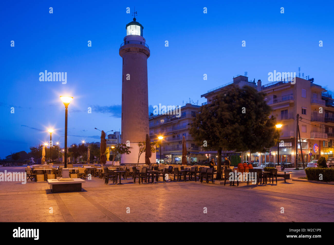 Greece, East Macedonia and Thrace Region, Alexandroupoli, the town lighthouse - Stock Image