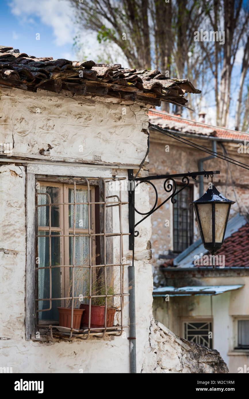 Greece, West Macedonia Region, Kastoria, Ottoman-era house detail - Stock Image