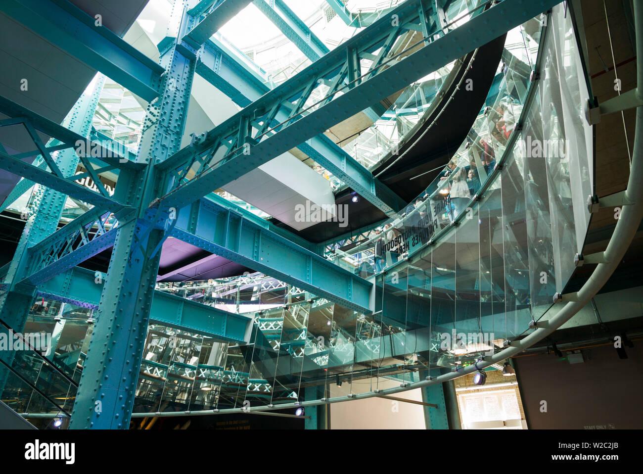 Ireland, Dublin, Guiness Storehouse, brewery museum, interior - Stock Image