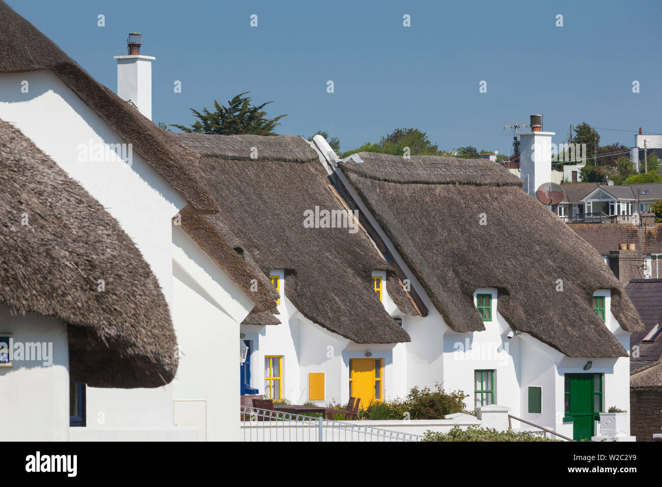 Ireland, County Waterford, Dunmore East, traditional cottage detail Stock Photo