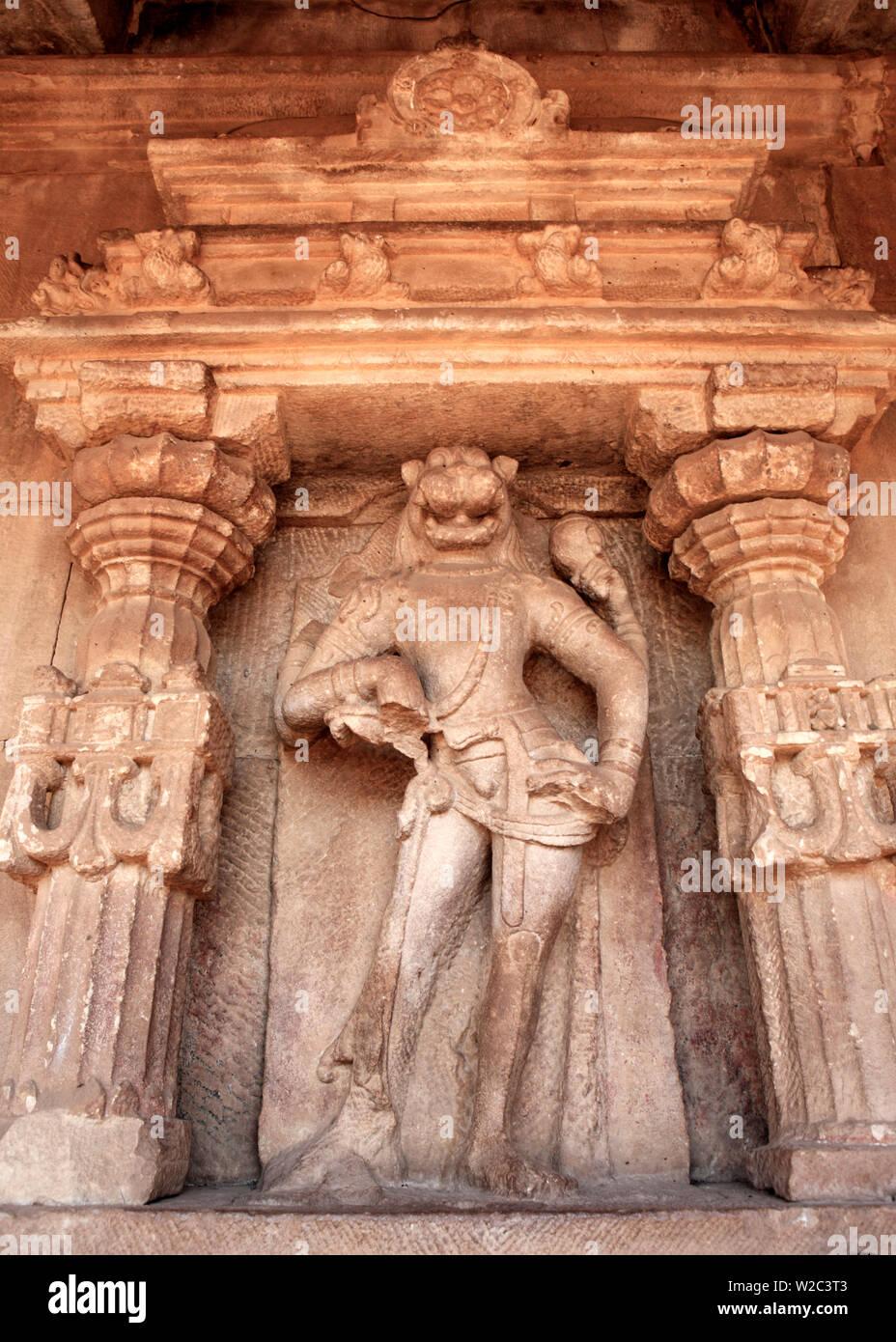 Hindu temple, Aihole, Karnataka, India - Stock Image