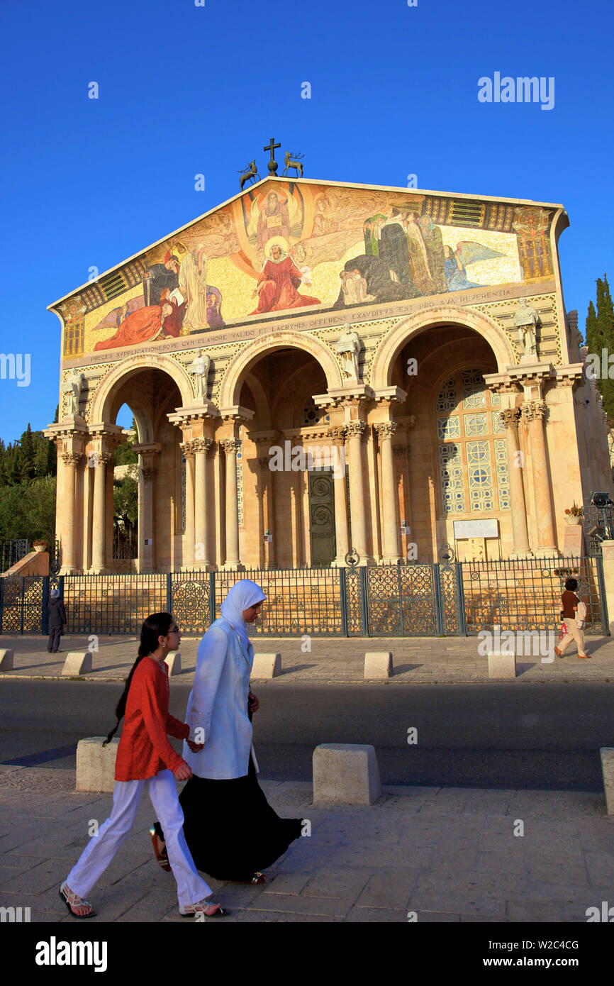 Basilica Of The Agony, Garden Of Gethsemane, Jerusalem, Israel, Middle East, Stock Photo
