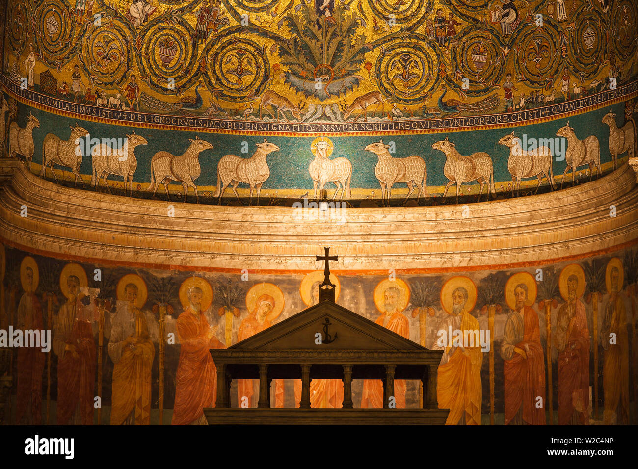 Italy, Lazio, Rome, Piazza Saint Clement, Basilica di San Clemente Stock Photo