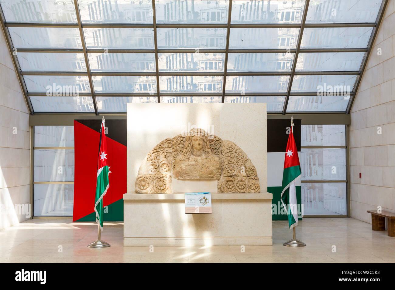 Foyer of The Jordan Museum, Ras al-Ayn, Amman, Jordan - Stock Image