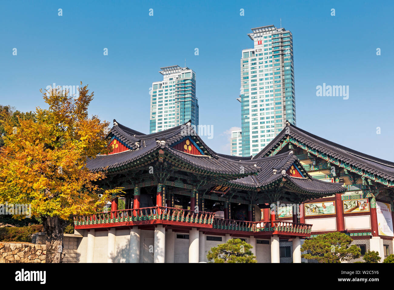 Bongeunsa Temple Grounds And Modern Architecture In The