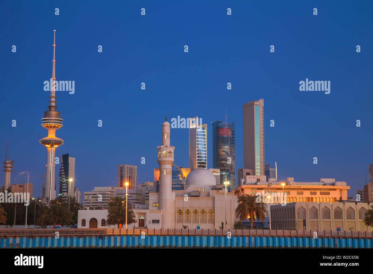 Kuwait, Kuwait City, City skyline - Stock Image