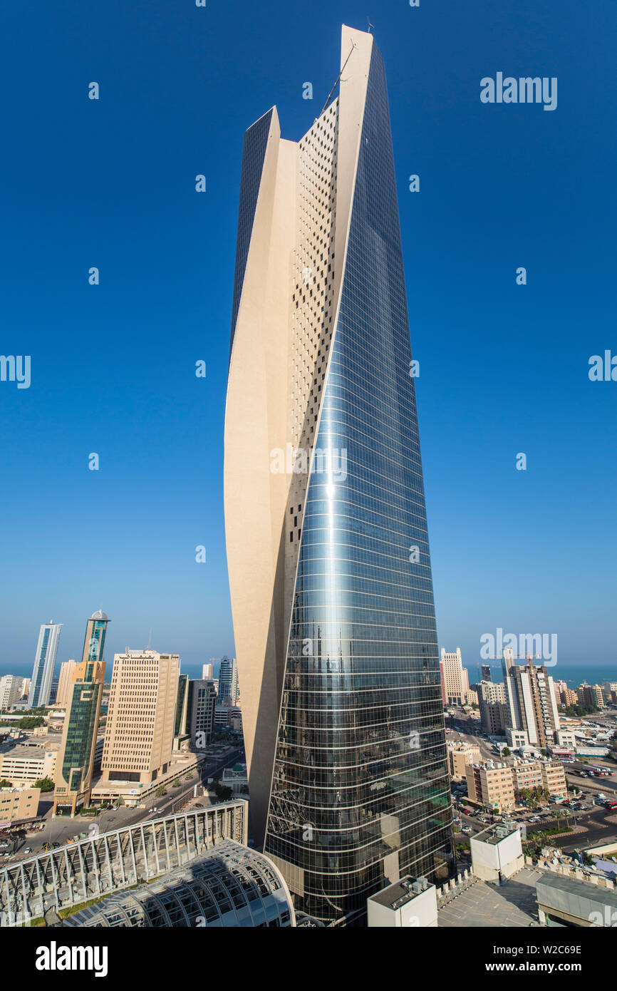Kuwait, Kuwait City, the Al Hamra building, tallest building in Kuwait completed in 2011 - Stock Image