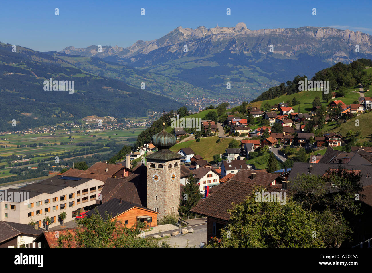 Liechtenstein, Steg Village, Triesen town Stock Photo