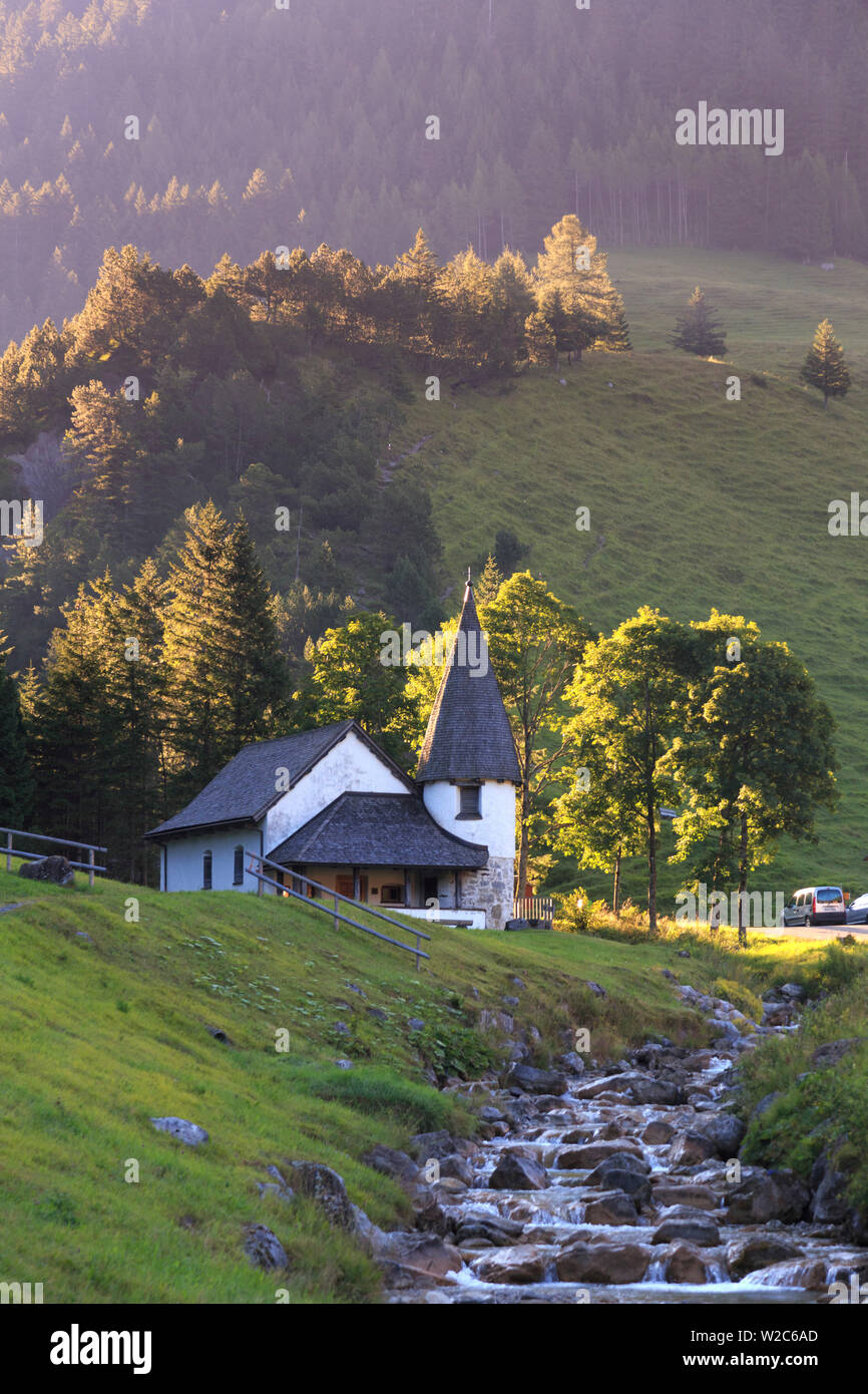 Liechtenstein, Steg Village - Stock Image