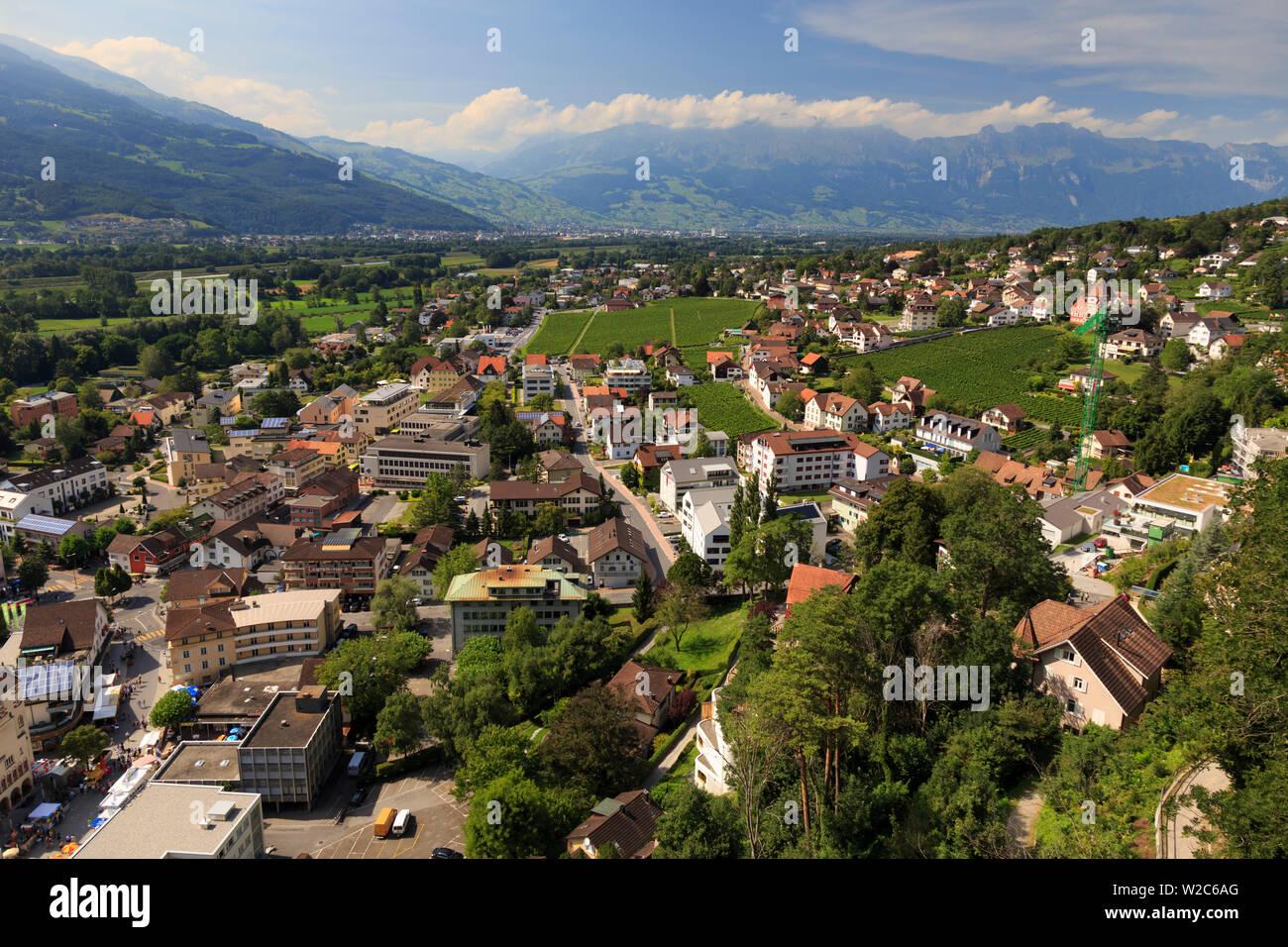 Liechtenstein, Vaduz, Vaduz Castle (Schloss Vaduz) Stock Photo