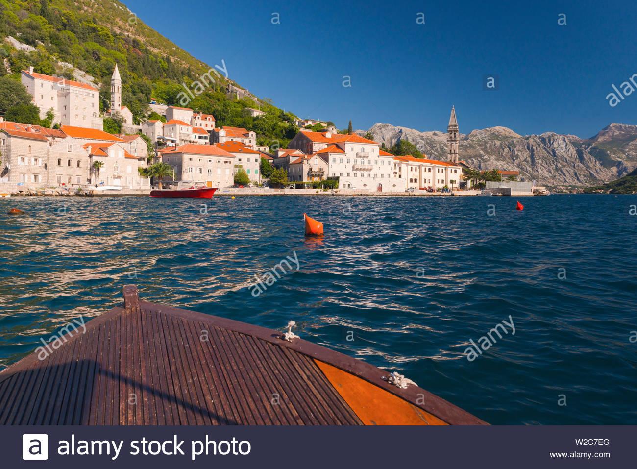Montenegro, Bay of Kotor, Perast Stock Photo