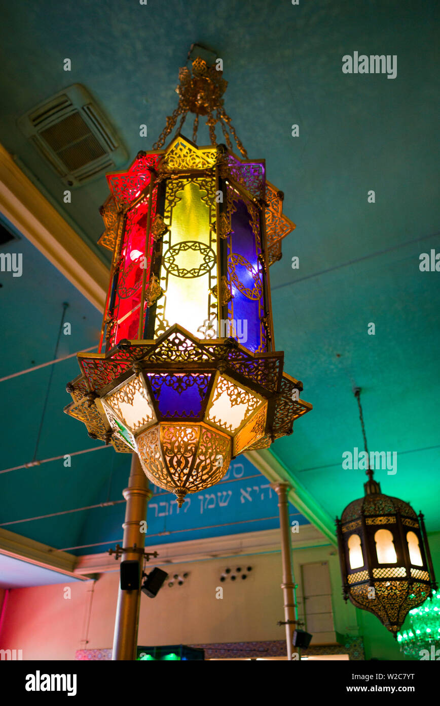 Netherlands, Amsterdam, Albert Cuypstraat street market, interior of the Bazaar restaurant inside old synagogue - Stock Image