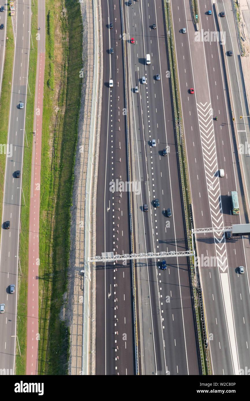 Roads, North Holland, Netherlands - Stock Image