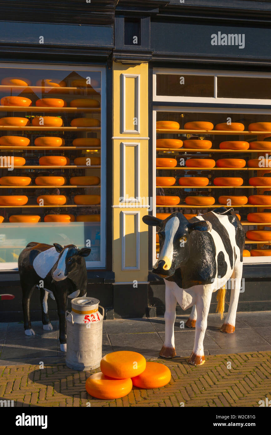 Netherlands, South Holland (Zuid-Holland), Delft, Cheese Shop Stock Photo