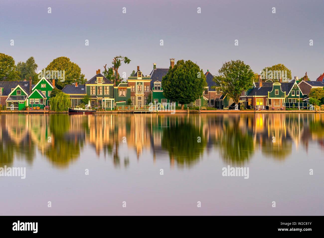 Netherlands, North Holland, Zaandam, River Zaan - Stock Image