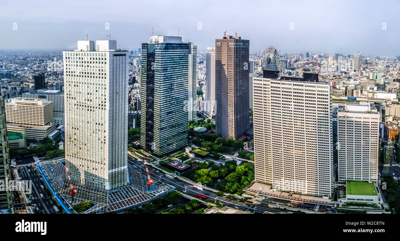Tokyo, Japan - May 10, 2019: Beautiful Tokyo cityscape, viewing from Observation Deck of Tokyo Metropolitan Government Building. - Stock Image