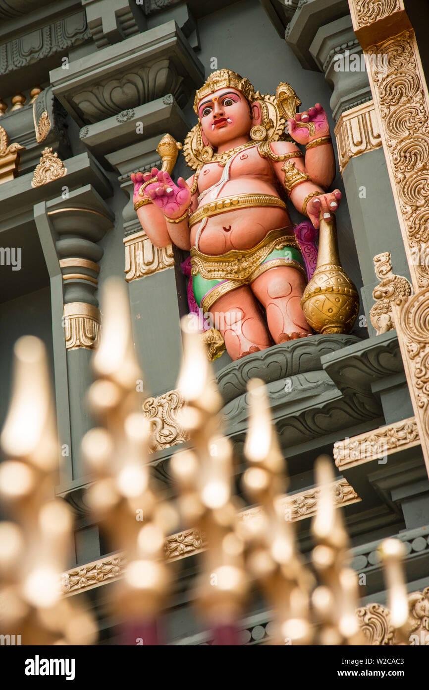 Hindu Temple, Victoria, Mahe, Seychelles - Stock Image