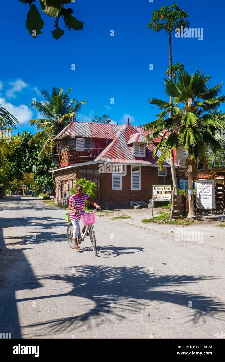 La Passe, La Digue, Seychelles - Stock Image