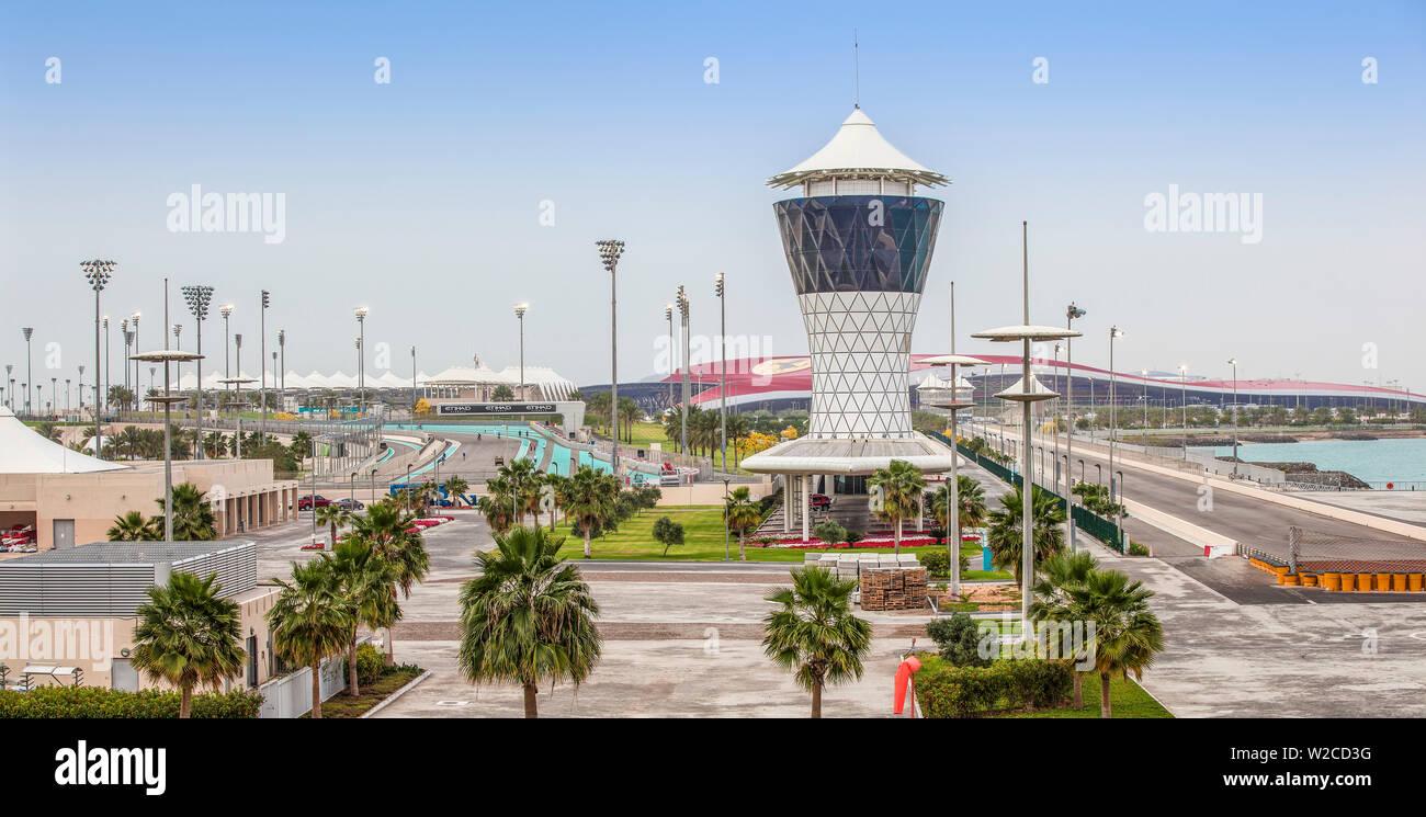 United Arab Emirates, Abu Dhabi, Yas Island, Yas Marina Circuit – home of the Etihad Airways Abu Dhabi Grand Prix - Stock Image