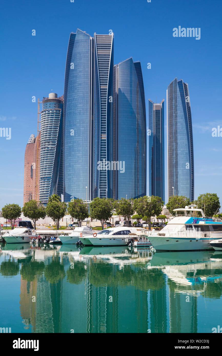 United Arab Emirates, Abu Dhabi, Etihad Towers - Stock Image
