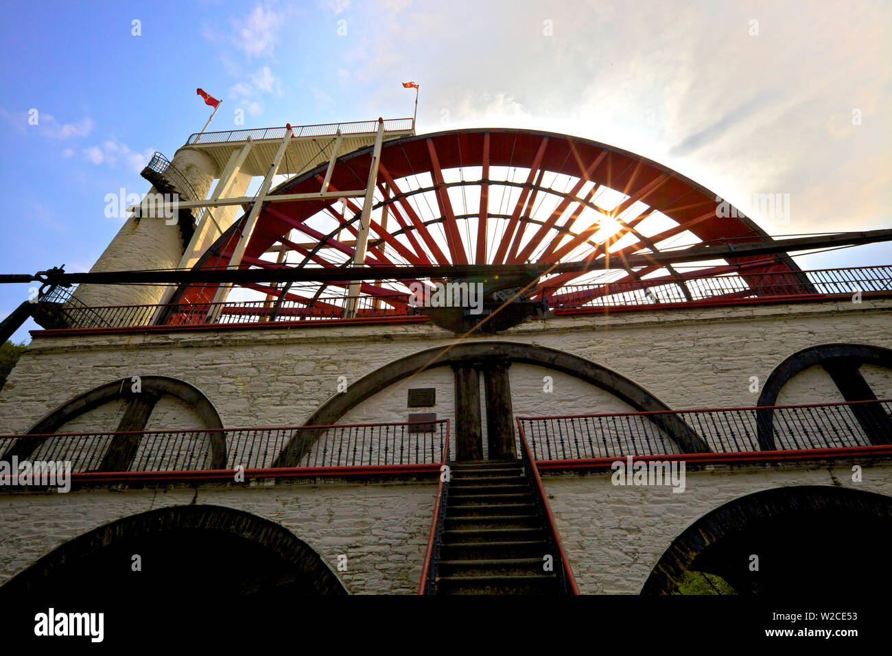 Laxey Wheel, Laxey, Isle of Man Stock Photo