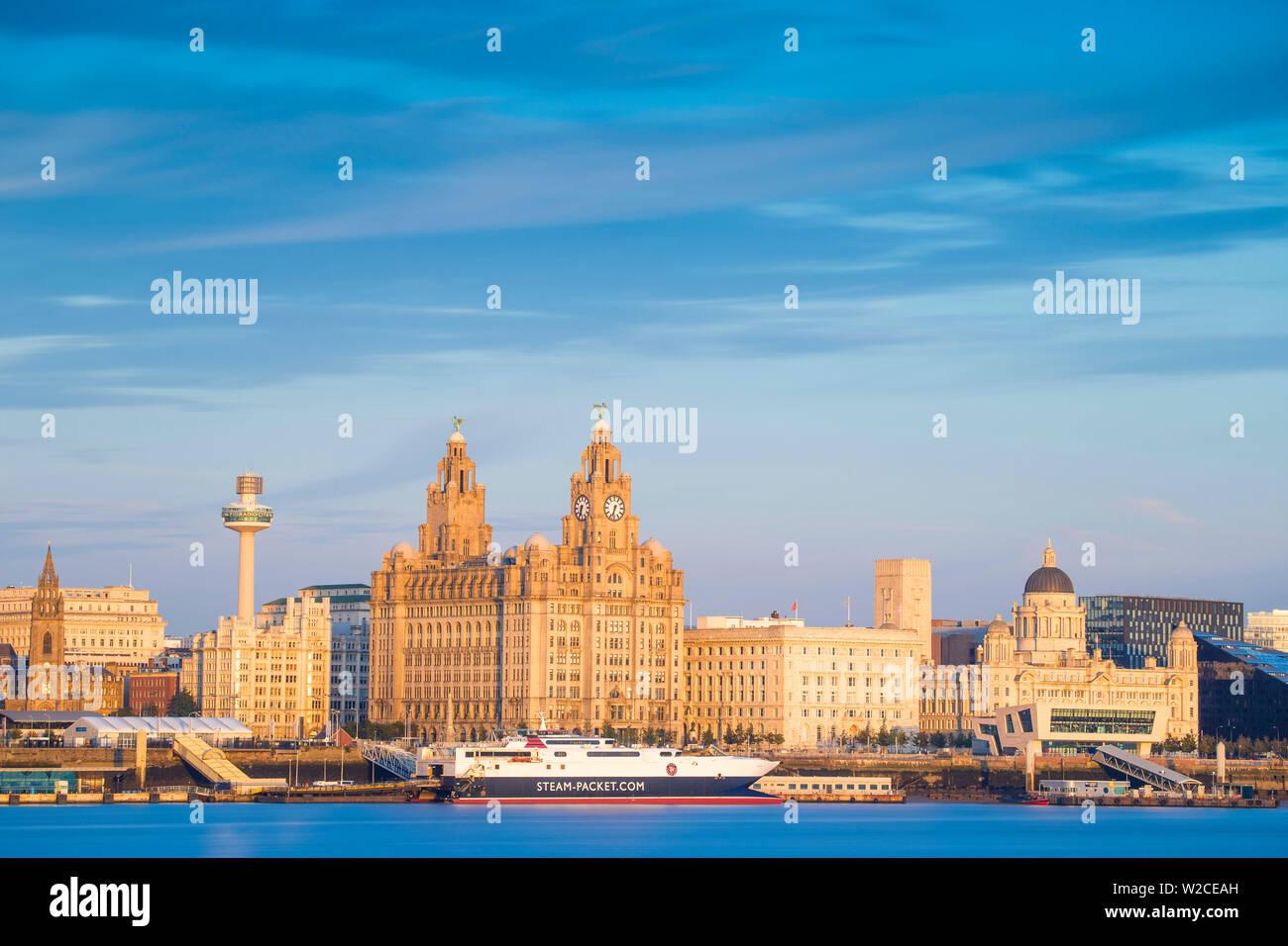 Liverpool United Kingdom Sunset Skyline Shot Glass