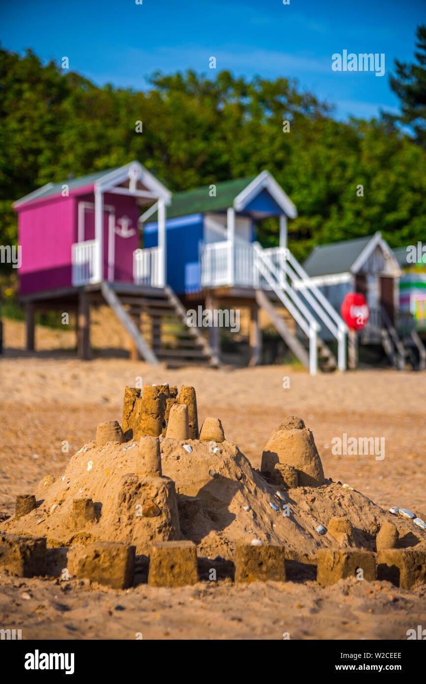 UK, England, Norfolk, North Norfolk, Wells-next-the-Sea Beach - Stock Image