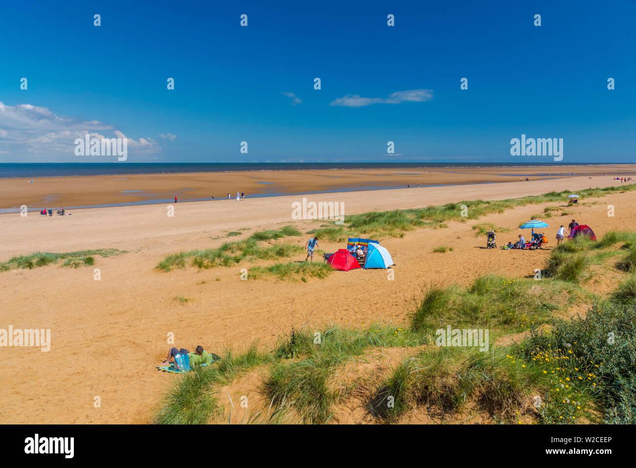 UK, England, Norfolk, Hunstanton, Old Hunstanton Beach - Stock Image