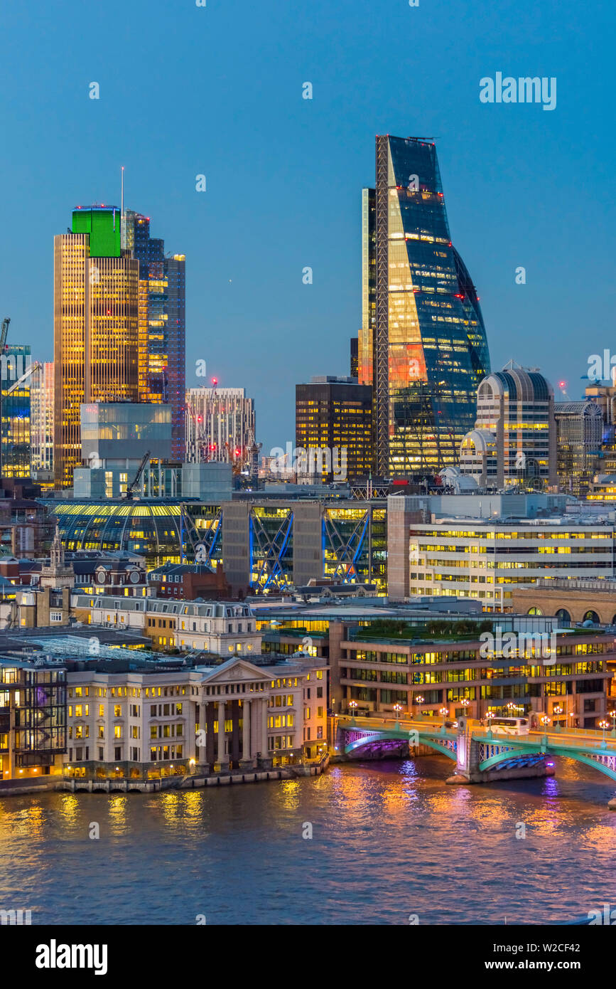 UK, England, London, City of London, Skyline, including the Cheesegrater - Stock Image