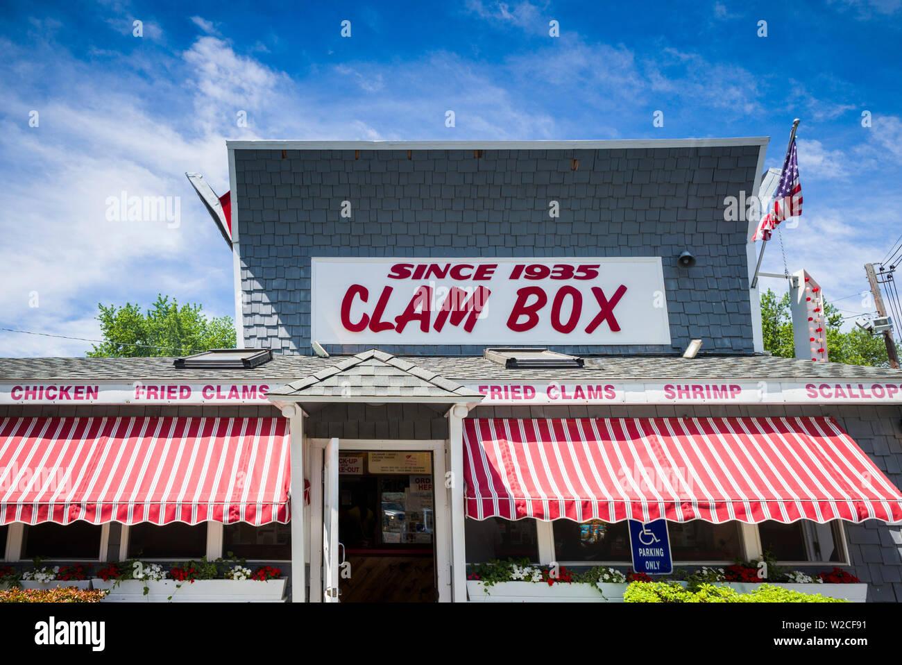 USA, Massachusetts, Ipswich, The Clam Box of Ipswich restaurant, exterior Stock Photo