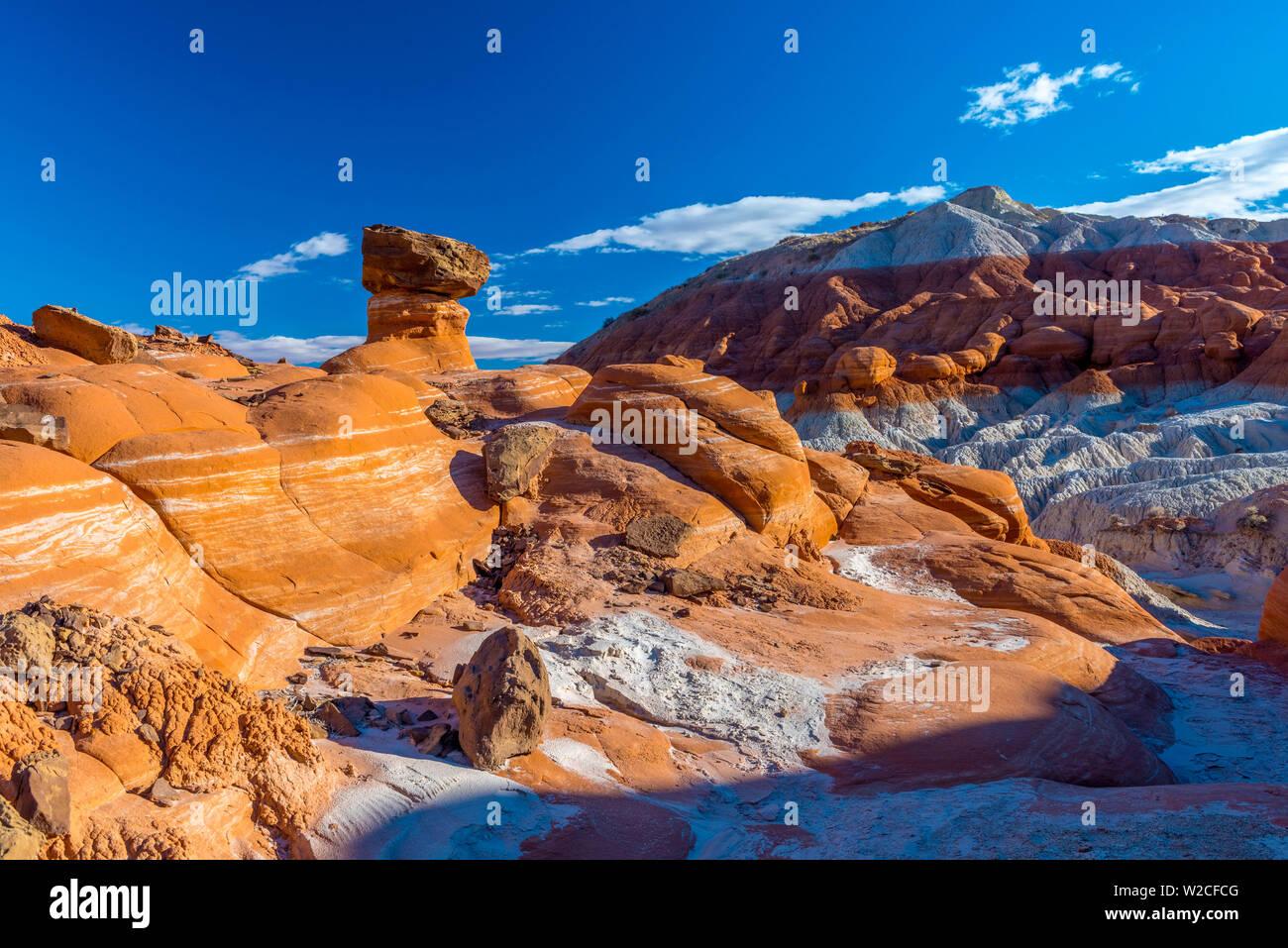 USA, Utah, Grand Staircase Escalante National Monument, The Toadstools Stock Photo