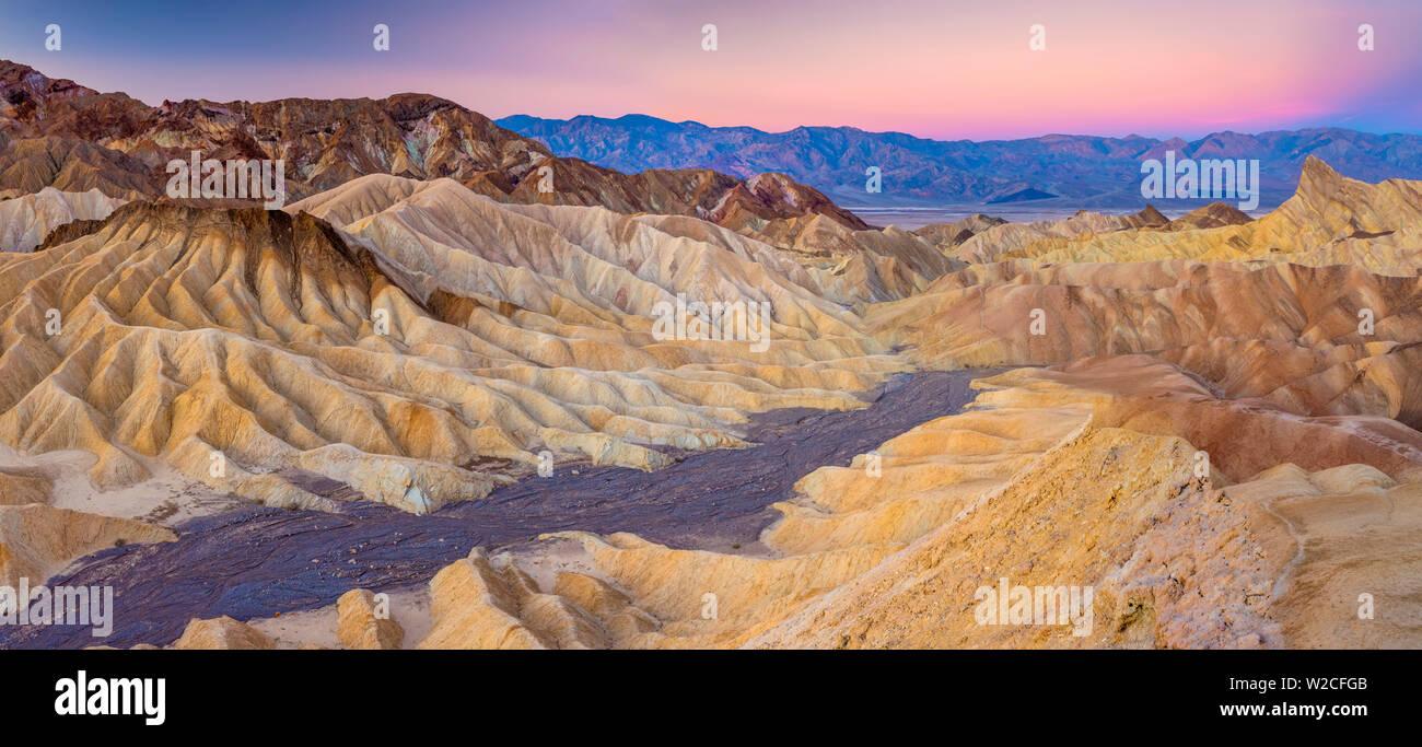 USA, California, Death Valley National Park, Zabriskie Point - Stock Image