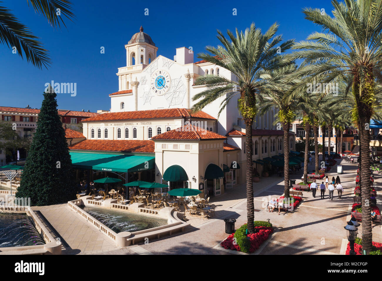 USA, Florida, West Palm Beach, City Place Mall, Harriet Himmel Theater - Stock Image