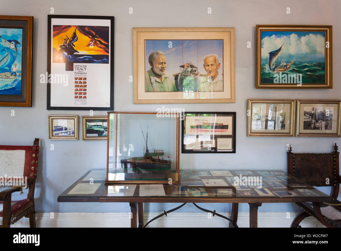 USA, Florida, Florida Keys, Key West, Hemingway House, former residence of famous American writer Stock Photo