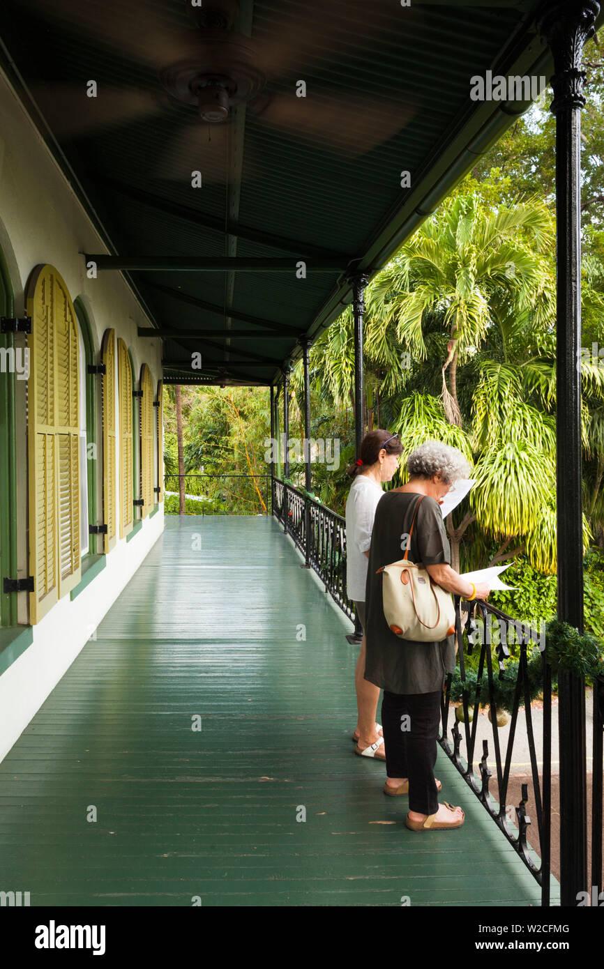 USA, Florida, Florida Keys, Key West, Hemingway House, former residence of famous American writer Stock Photo