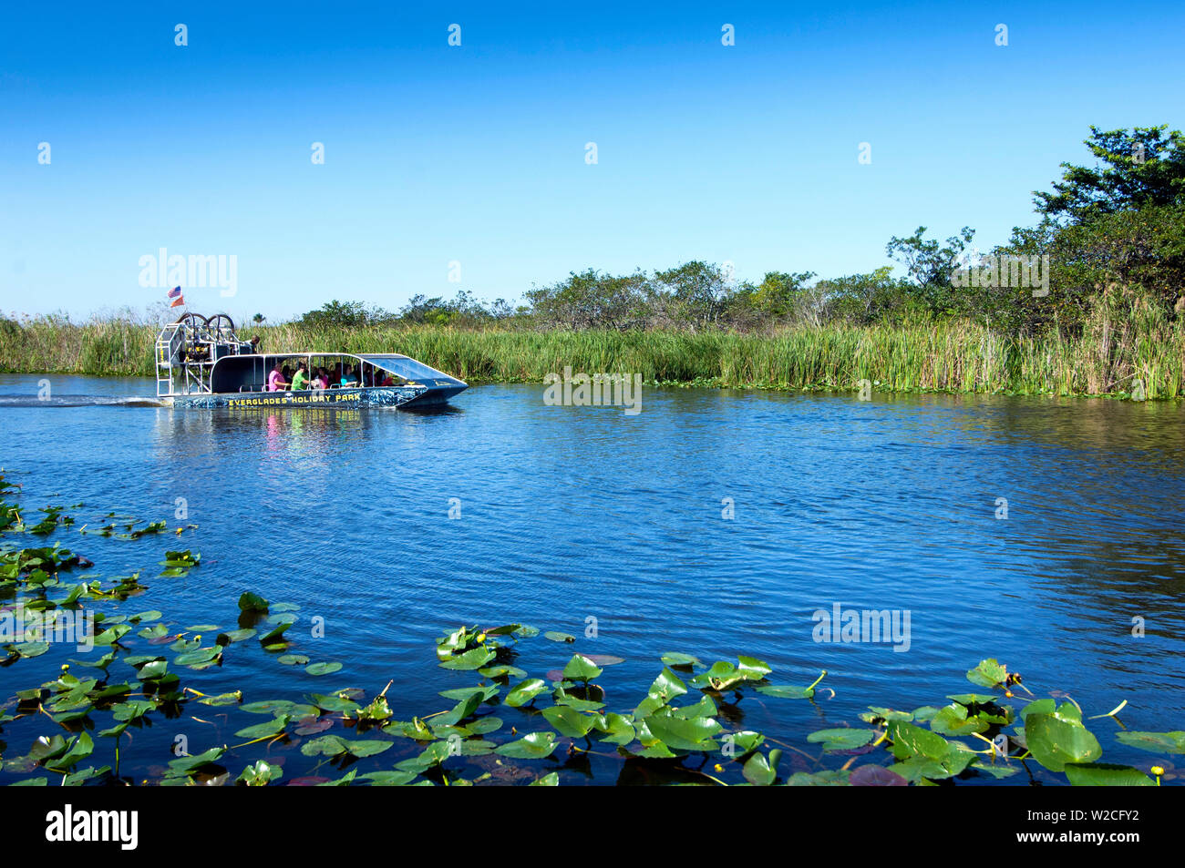 Florida, Fort Lauderdale, Everglades Holiday Park, Airboat Tours Stock Photo