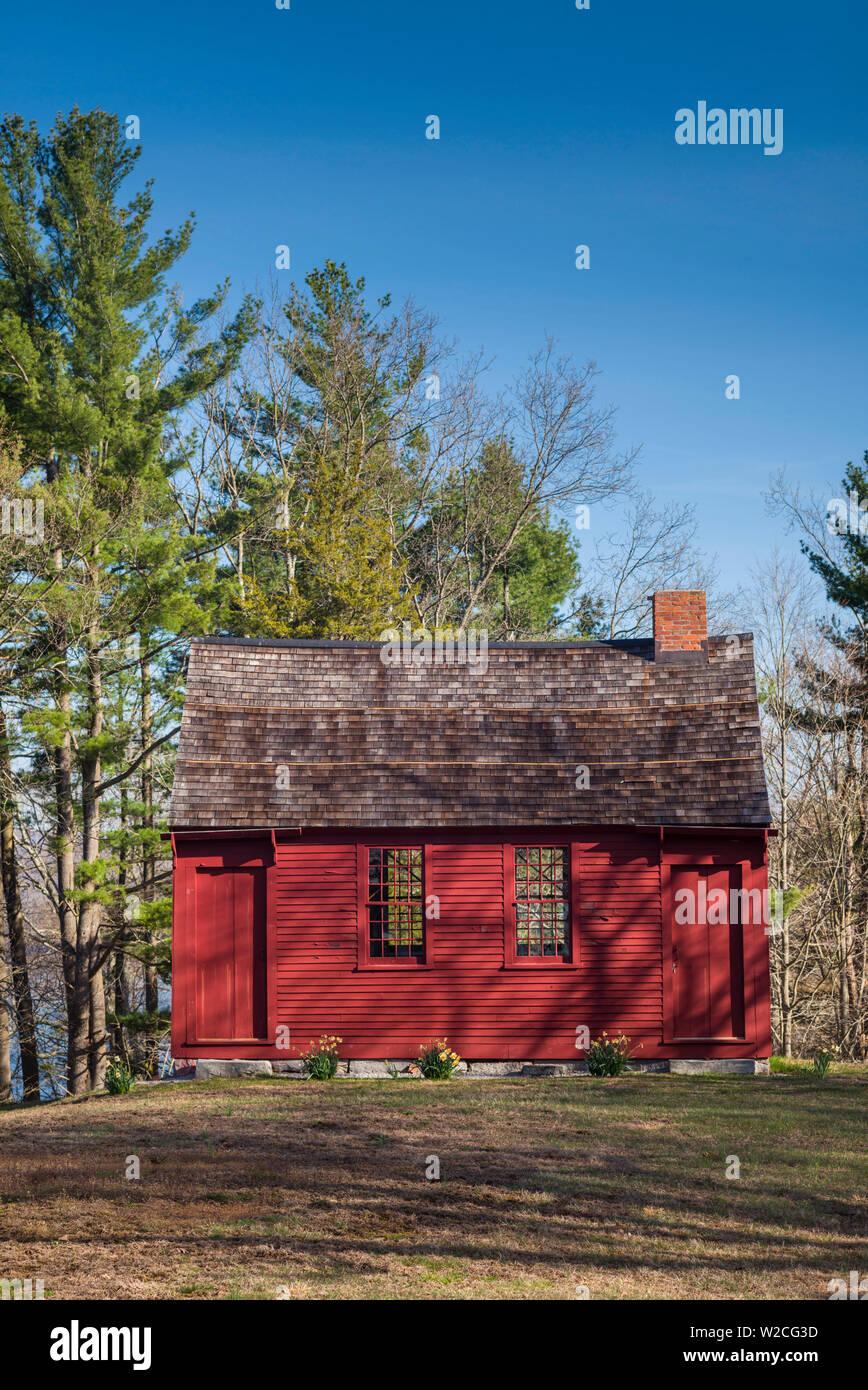 USA, Connecticut, East Haddam, Nathan Hale Schoolhouse, school where American Revolutionary War hero Nathan Hale was a teacher - Stock Image
