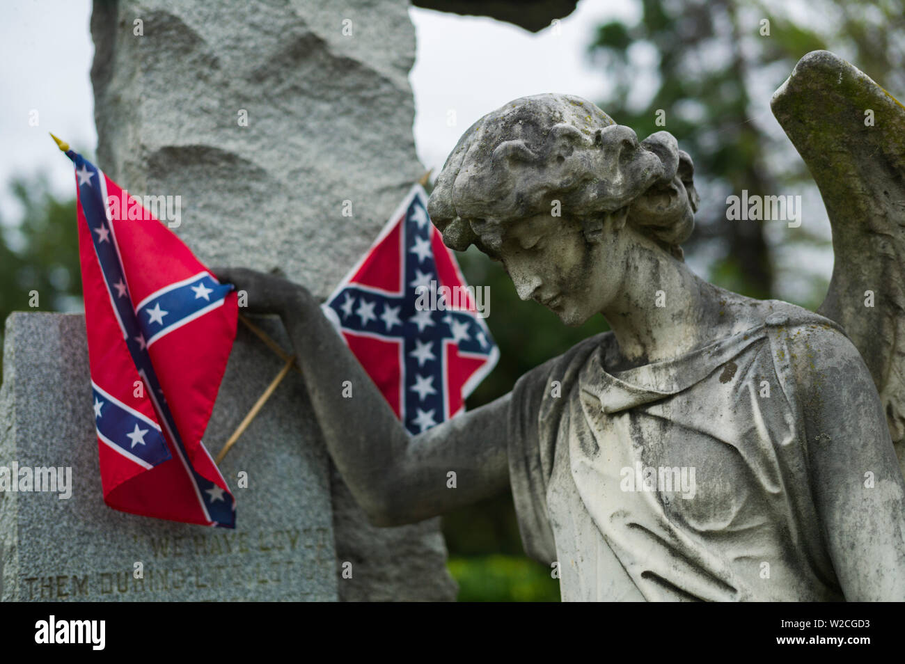USA, Virginia, Richmond, Hollywood Cemetery, graves of Confederate soldiers - Stock Image