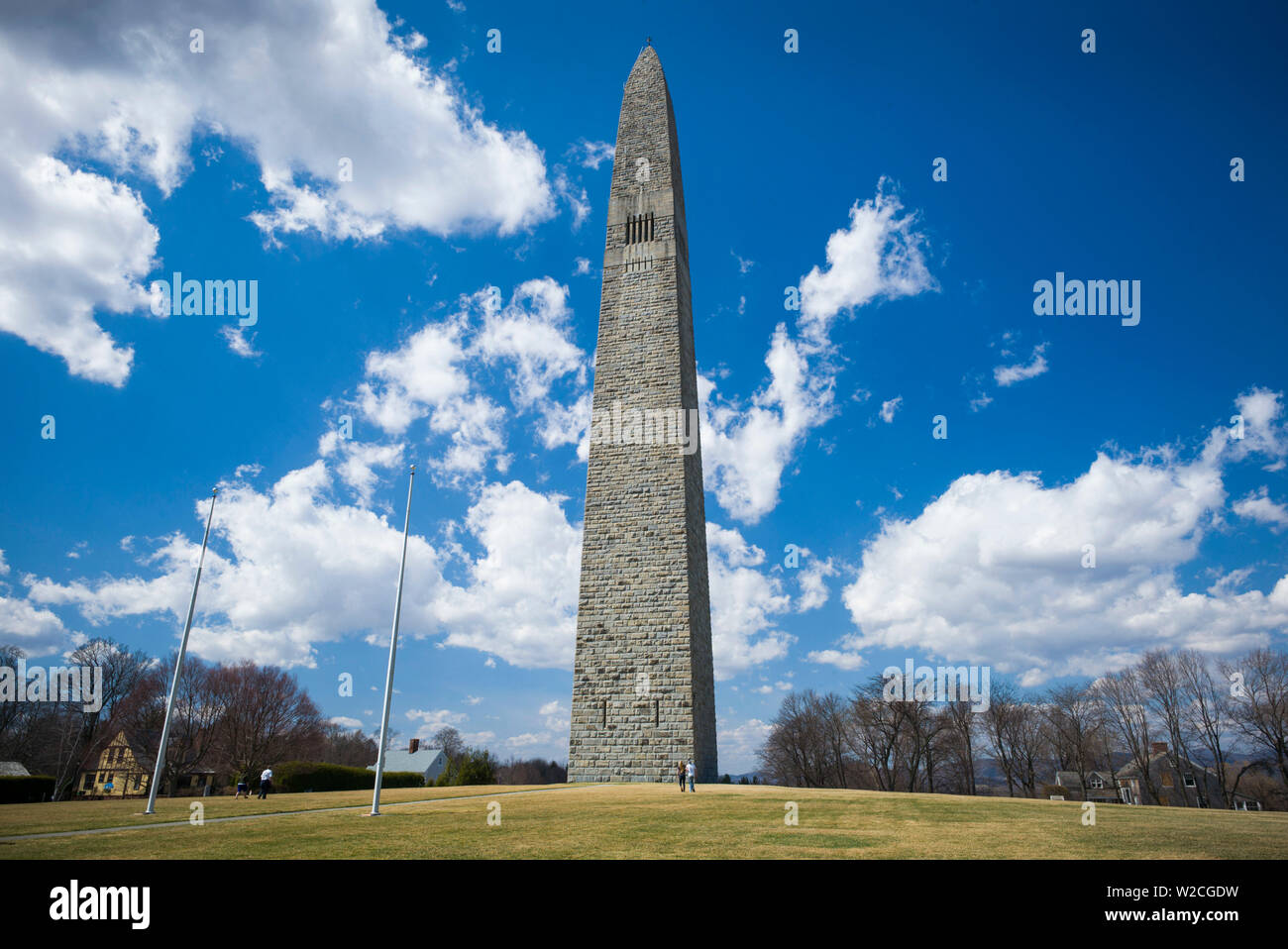 USA, Bennington, Bennington Battle Monument, commemorates American Revolutionary battle of August 16 1777 - Stock Image