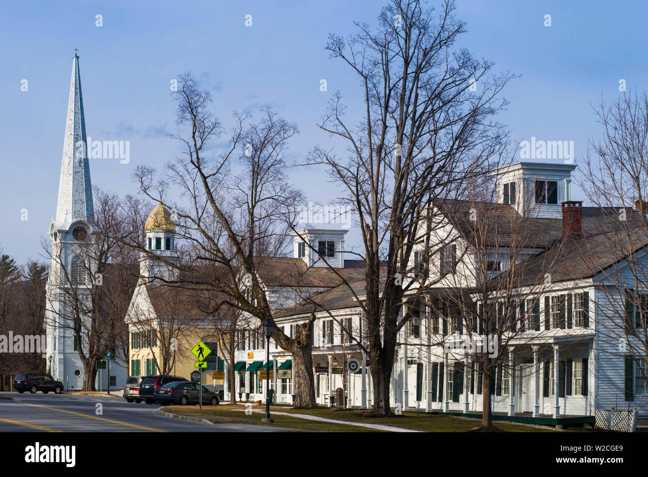 USA, Manchester Center, village view - Stock Image