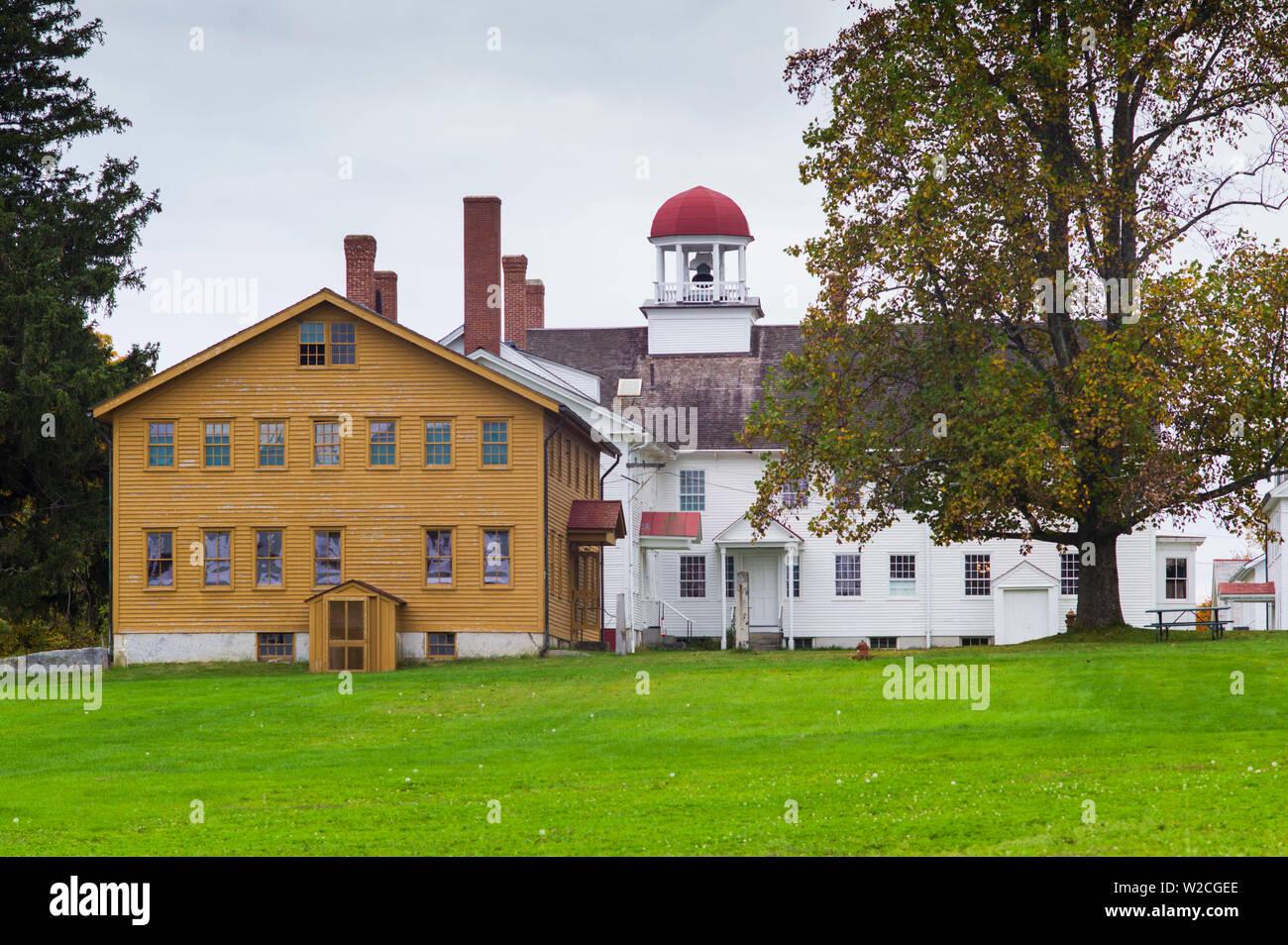 USA, New Hampshire, Canterbury, Canterbury Shaker Village, former Shaker religious community, buildings Stock Photo