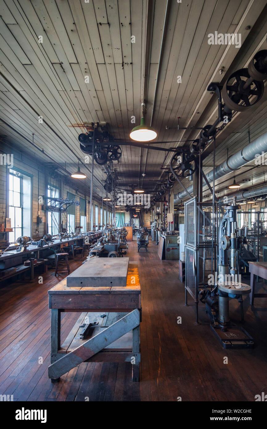 USA, New Jersey, West Orange, Thomas Edison National Historical Park, interior, factory floor Stock Photo